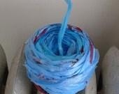 Upcycled Plastic Bag Yarn, Blue