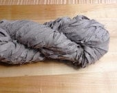 Worsted Weight Recycled Fabric Rag Yarn, Gray