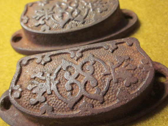Set of Two Cast Iron Drawer Pulls