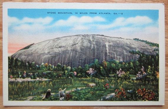 Vintage Postcard Stone Mountain Georgia