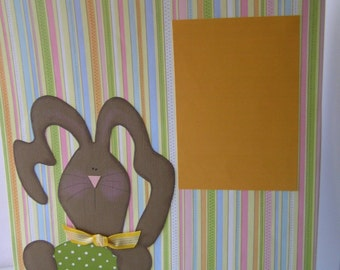 Easter Paper Pieced Scrapbook Pages-Striped