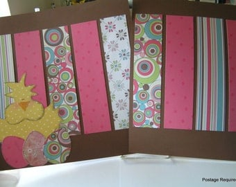 Easter Paper Pieced Scrapbook Pages- Chick