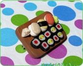 I love sushi brooch
