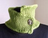 Avocado Green Asymetrical Neckwarmer Knit