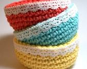 Set of 3  Mini Bowls - Sunny Colors
