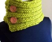 Knit Scarf - Lemongrass Bulky Cowl  - Neckwarmer