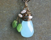 Budding Spring Wire Wrapped Woodland Necklace