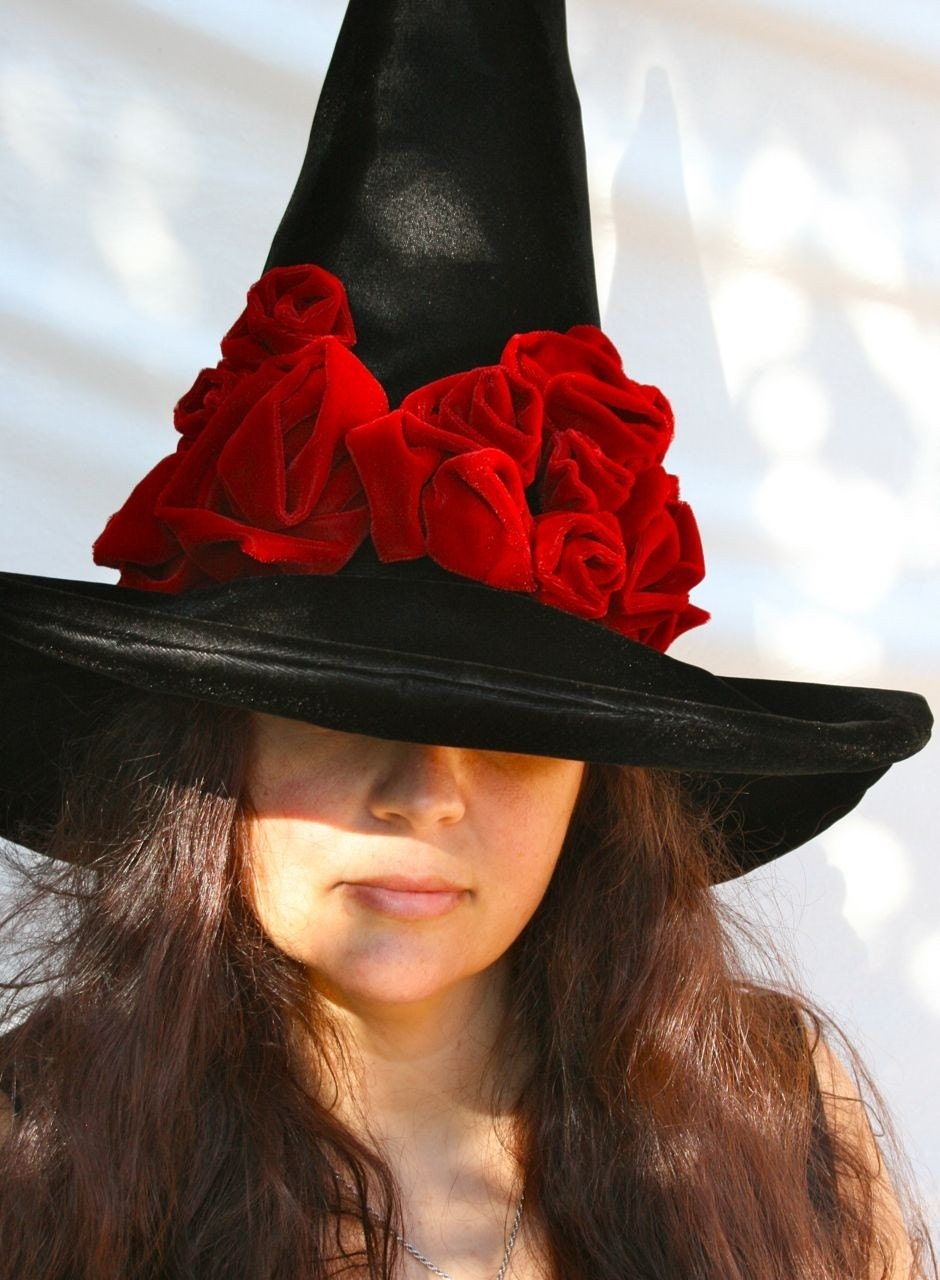 Witch Hat Black Hat Society Halloween Adult Costume Elegant