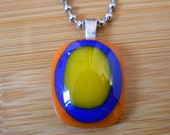 SoCal Love Necklace - Made in Los Angeles - Fused Glass Jewelry