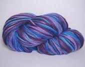 Midnight Blue - Hand Dyed Superwash Merino Wool - Worsted Weight