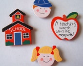 Kids at School Magnet Set