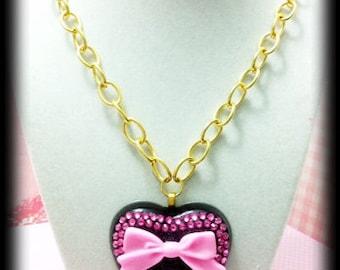 Swarovski Pretty Pink Sparkle Heart Necklace
