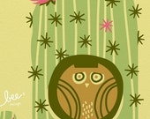 pygmy cactus owl, day limited edition print