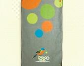 painted bunting tea towel
