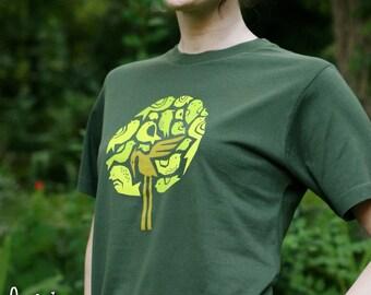 bird tree bee-tee-shirt