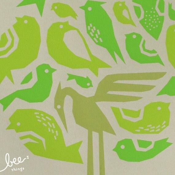 bird tree limited edition print - moss