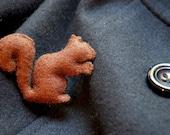 Brown Squirrel Brooch