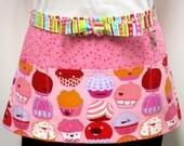 Happy Cupcakes Zipper/Key Clasp Vendor Apron