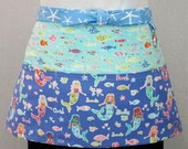 Mermaid Friends Zipper/Key Clasp Vendor Apron