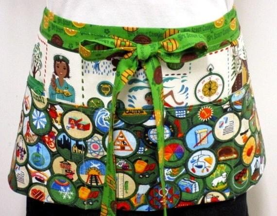 Girl Scout Merit Badge Zipper/Key Clasp Apron