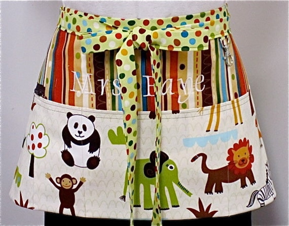 Wild Friends Zipper/Key Clasp Vendor Apron