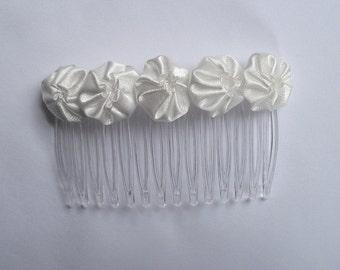 Off -White Duponi Silk Yo-Yo Hair Comb