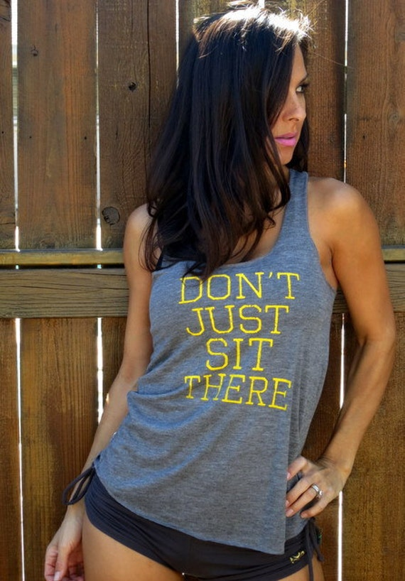 Don't Just Sit There. Burnout Flowy Racerback Tank Size LARGE