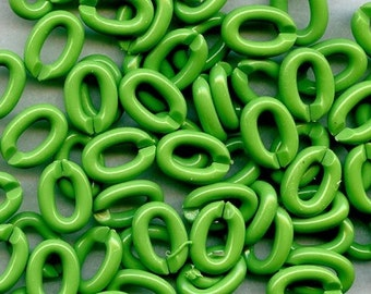 small smooth SPLIT Links SPRING GREEN