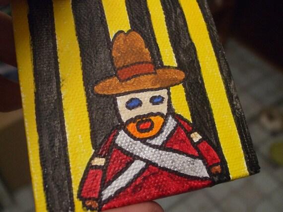 Cowboy Jailer Creature Original Painting