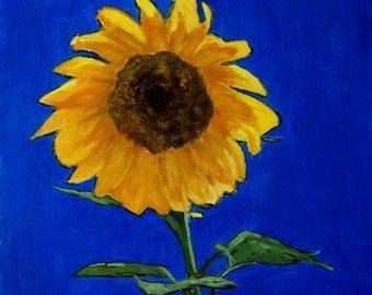 Impressionist Painting Sunflower