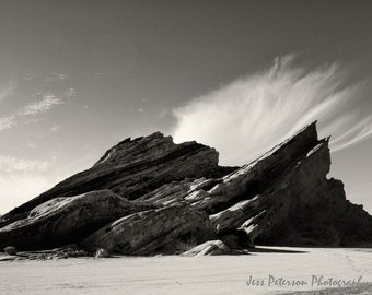 High desert photos Vasquez Rocks CA photo rock formation photos Print 5x7, matted, 8x10 Black & White Home Decor Fine Art Photos In Stock