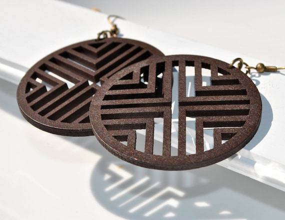 Large Wooden Cutout Hoops
