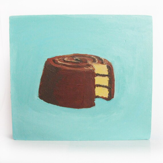 little chocolate layer cake painting