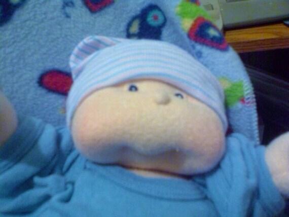 Soft-sculptured cloth baby doll 11 inch newborn