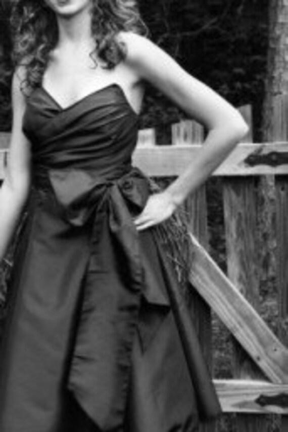Gigi Strapless Wrap Gown - In Your Size - Satin or Taffeta