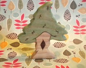 THE GNOME HOME Kids Waldorf Wooden  Play Pine Tree Toy