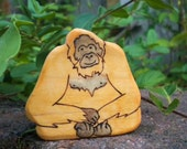 Waldorf Inspired Kids Wooden Friendly Orangutan Play Toy