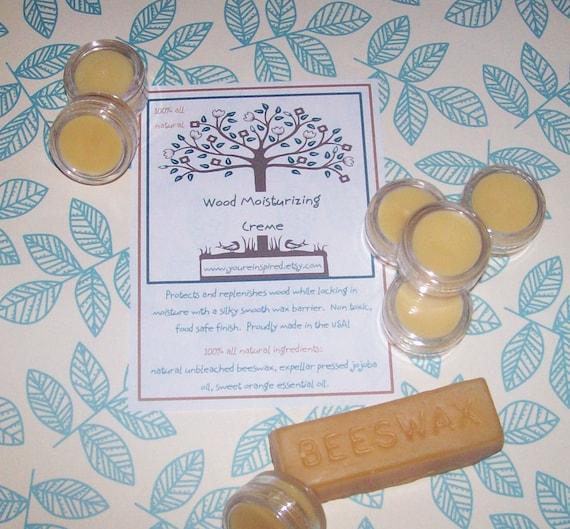 All Natural Beeswax Wood Moisturizing Creme 5 grams