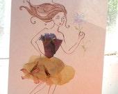 Pressed Flower Bemused Card