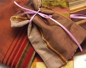 4 Silk Jewelry gift pouch bags  No.5 purples --- handmade