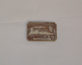 Western Icolay Belt Buckle 1970s with Train