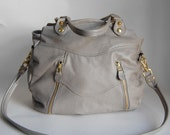 Larch bag in cement grey