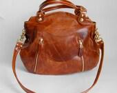 Larch bag in antique cognac