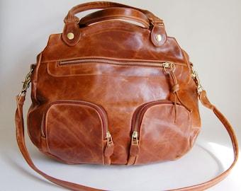 Shikotsu bag in antique cognac