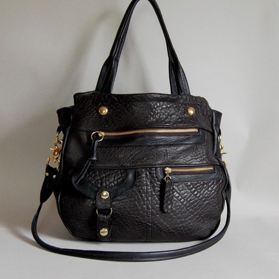 N E W  5 pocket Okinawa bag in black- clip on shoulder strap- Reserved for KIM