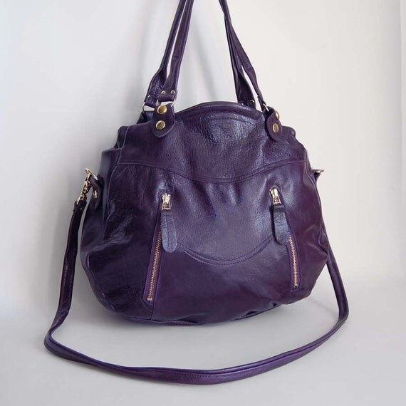 Larch bag in purple- clip on cross body strap