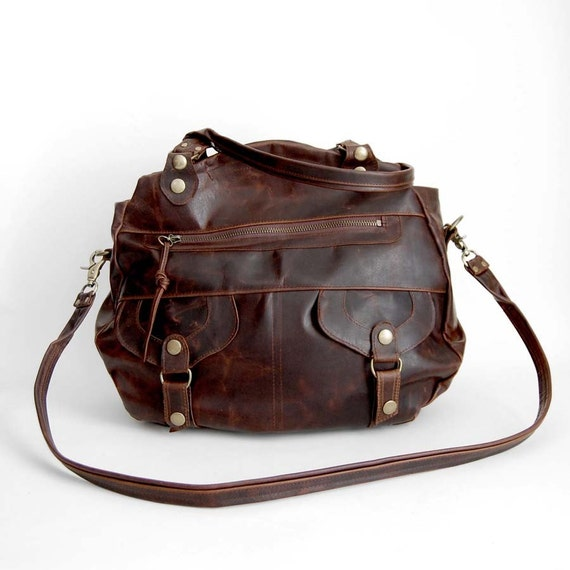 Onishi bag in walnut wood brown