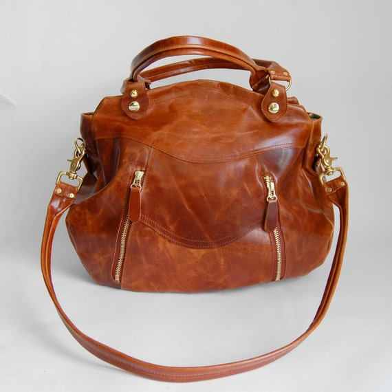 Larch bag in antique cognac
