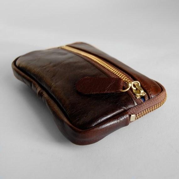 4 pocket wallet in antique brown