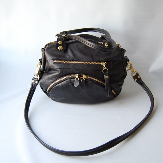 SALE - Small/medium Shikutso bag in black